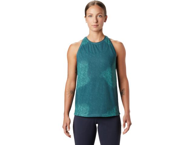 Mountain Hardwear Crater Lake Top sin Mangas Mujer, washed turquoise